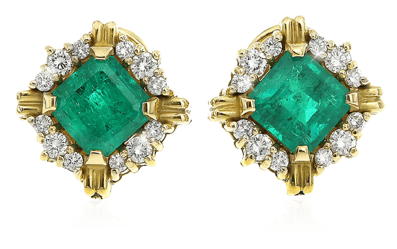 Columbian Emerald Earrings